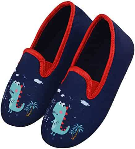 LA PLAGE Kids Winter Autum Short Nap Lining Non-Slip Soles Warm Comfort Indoor Outdoor Slippers DM-285