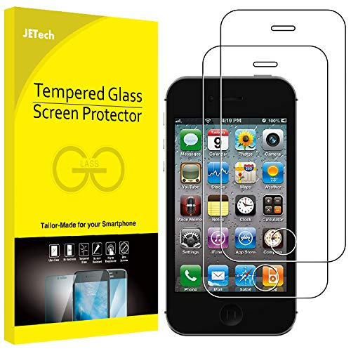 JETech 2-Pack Screen Protector for Apple iPhone 4 and iPhone 4s, Tempered Glass Film