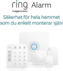 Helt ny Ring Alarm-sats med 5 delar (2:a gen.) från Amazon – hemsäkerhetssystem med assisterad övervakning som tillval – inga långsiktiga åtaganden