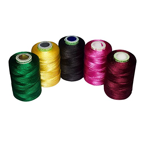Silk Tenor Shiny and Soft thread for jewelry making-tassel making- embroidery 10 Popular Jewelry Making -embroidery Colors Included for Silk Thread Finery, Sewing by Unobite