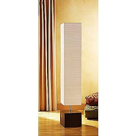 Paper Shade Floor Lamp Interesting Mainstays Floor Lamp Dark Wood Finish Lamp Only Amazon