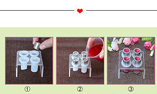Lip Balm DIY Kit, Professional Natural Lip Balm Kit, Simple Design Silicone Lipstick Mold for DIY Lipstick, Making Tool Kit Set by Oneself (Bird Pattern) by Lily Fashion Monster (Image #1)