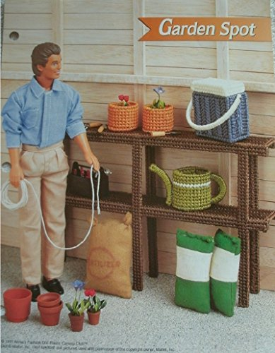 Gardening Spots (Barbie and Like Size Doll Dollhouse Furniture PLASTIC CANVAS PATTERN