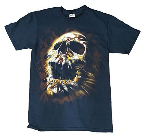 Halloween Mummy Face Black Graphic T-Shirt,Medium 38/40