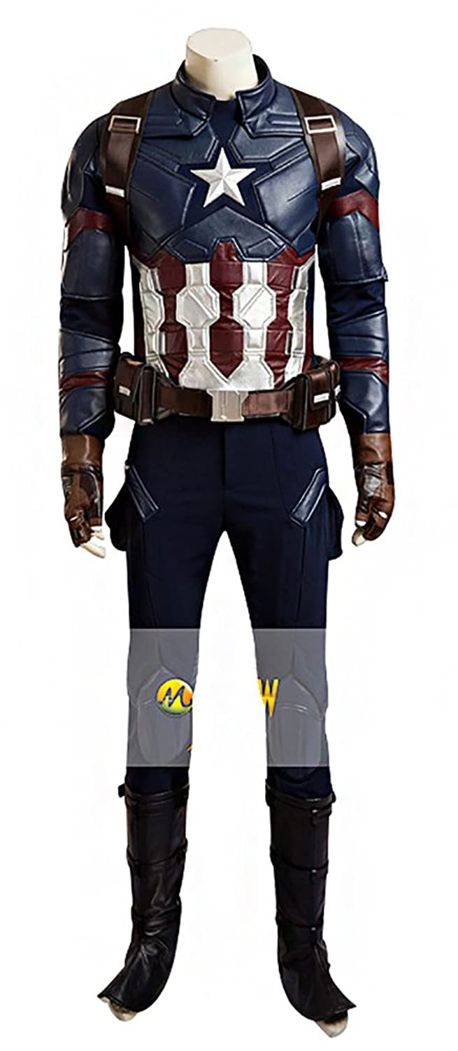 Men's Captain America: Age of Ultron Faux Leather Full Set Cosplay Costume - DeluxeAdultCostumes.com