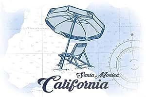 Amazon Com Santa Monica California Beach Chair And