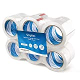 Shiplies Clear Packing Tape1.88'' x 60 Yards per Roll (Pack of 12 Refill Rolls) Stronger 3.2mil, Heavy Duty Sealing Clear Adhesive Tape for Moving Packaging Shipping, Office and Storage (12)
