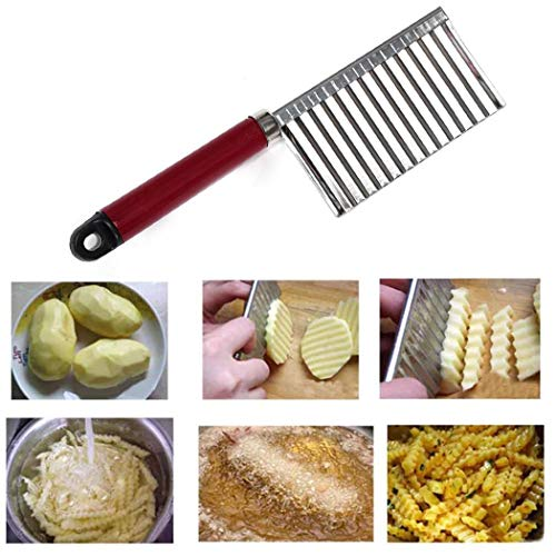 Evelove Stainless Steel Potato Slice Cutter Vegetable Fruit Knife Kitchen Tool Peelers