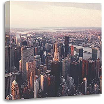 TORASS Canvas Wall Art Print NYC New York City Skyline Architecture Artwork for Home Decor 20