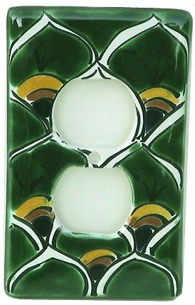 Switch Talavera Ceramic (Green Peacock Talavera Ceramic Switch Outlet)