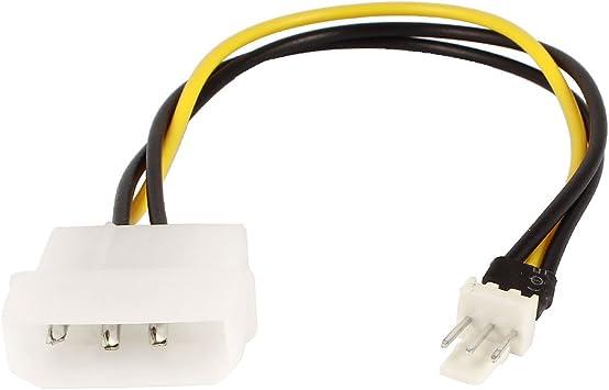 2 piezas de alimentación de corriente IDE 4 pin macho a 3 pin ...
