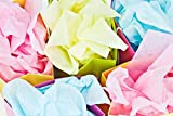 "Colored Tissue Paper 100 Vivid Multi Color Sheets Size 26"" X 20"" Assorted Bulkl 25 Bold Solid Colors"