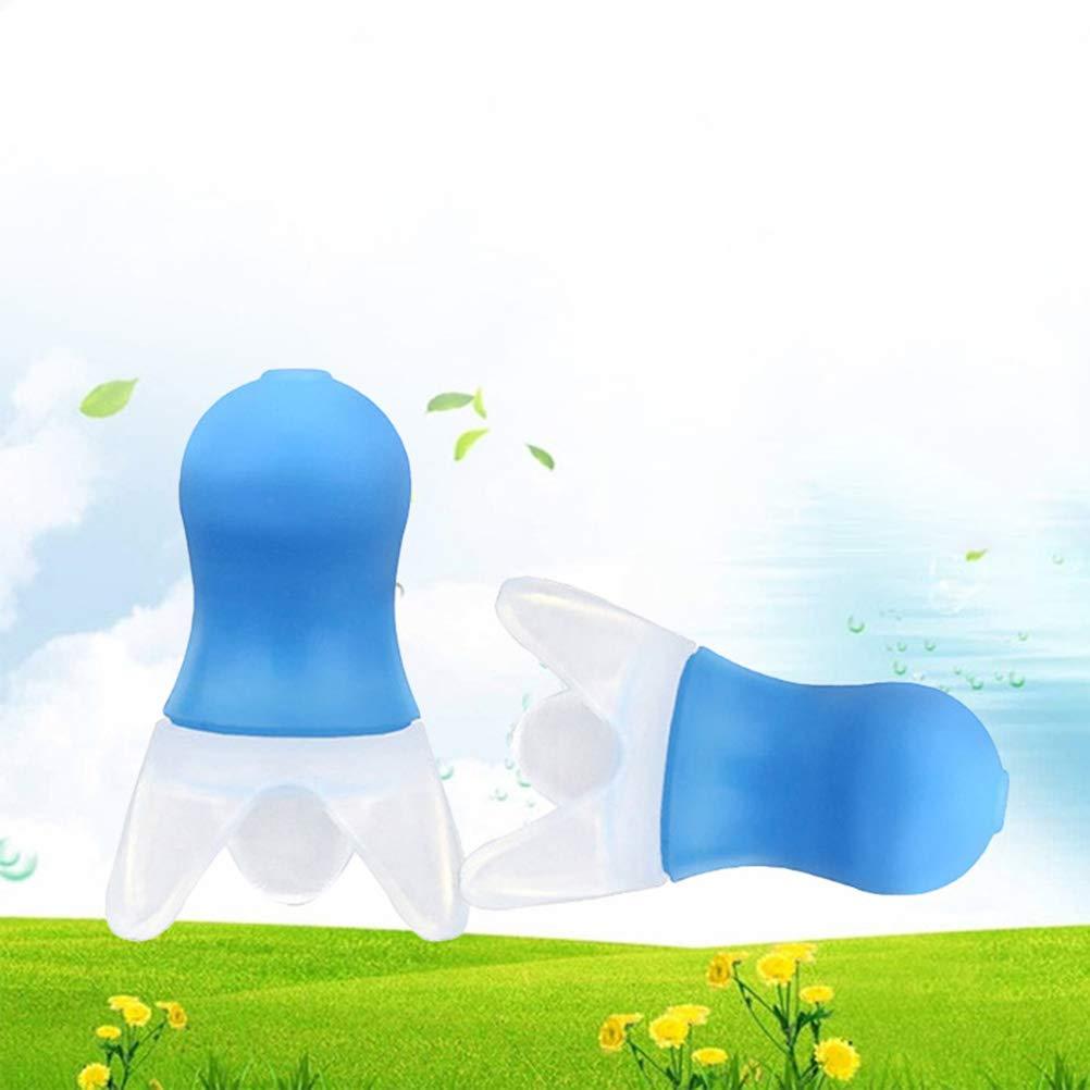 azul Healifty 2 pares de tapones para los o/ídos de silicona para aeronaves vaporizador para dormir ronquidos