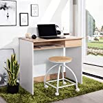 Coavas Computer Desk Study Table Wooden Writing Desk with Cupboard Drawers and Keyboard Tray Desktop PC Table for Adults…