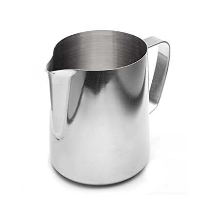 Stainless Steel Milk Frothing Jug Espresso Coffee Cup Pitcher Barista Craft Coffee Latte Milk Frothing Jug Pot Kitchen (350 ML / 12 oz.)