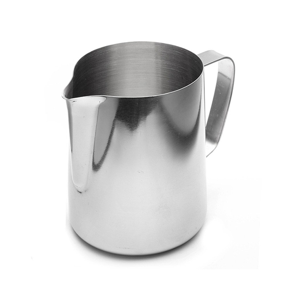 Stainless Steel Milk Frothing Jug Espresso Coffee Cup Pitcher Barista Craft Coffee Latte Milk Frothing Jug Pot Kitchen (600 ML / 20 oz.)