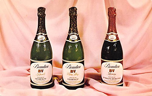 - Wine and Liquor Advertising Old Vintage Antique Post Card Beaulieu Vineyard Napa Valley Champagnes Unused