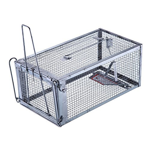 - Trapro Humane Rat Trap Cage for Rats Mice Chipmunks and Other Similar-Sized Rodents