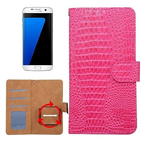 bdc2d91f263 alsatek Funda de Piel sintética para Samsung Galaxy A5 2017 diseño Magenta  Textura cocodrilo: Amazon.es: Electrónica