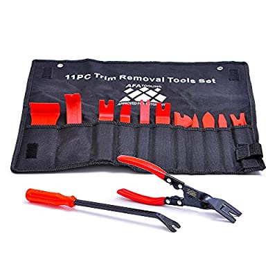 AFA Tooling Pry Tools Automotive (13 Pcs) with Panel Clip Pliers and Fastener Remover: Automotive