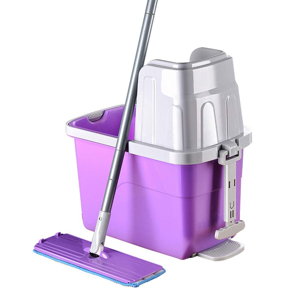 Zhanghaidong Hand Wash Household Flat Mop Wet and Dry Direct Use Large Mop Mop Bucket Lazy Mopping Artifact 360 Degree Spinning Mop Bucket Home Cleaner