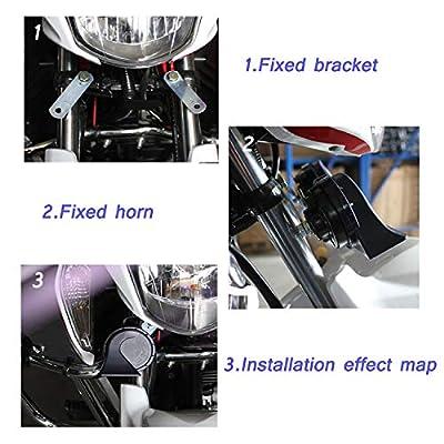 SoundOriginal DL168-A 400Hz Loud One Car Hron 12 Volt Low Tone Horn Electric Horn for Golf Truck Car Motorcycle etc. (Black Low): Automotive