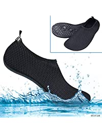 Eco-Fused Women's Water Shoes with Elastic, Quick Dry, Breathable Fabric and Non-Slip Rubber Sole