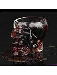 Bargain 1 Piece Hot Sale Skull Head Crystal Glass Vodka Whiskey Shot Cup Drinking Ware Home Bar 75ml wholesale