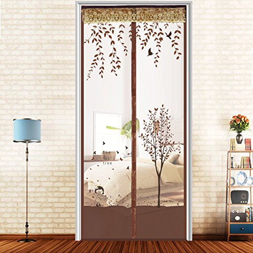 JYXJJKK Mosquito magnetic soft yarn curtain,Encrypted partition screens-A 59x87(150x220cm)