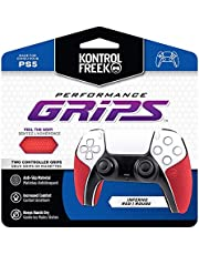 KontrolFreek Performance Grips for Playstation 5 Controller (PS5) | Inferno Red