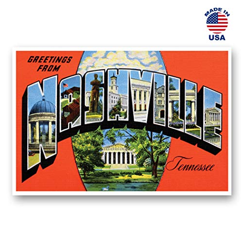 - GREETINGS FROM NASHVILLE, TN vintage reprint postcard set of 20 identical postcards. Large Letter Nashville, Tennessee city name post card pack (ca. 1930's-1940's). Made in USA.