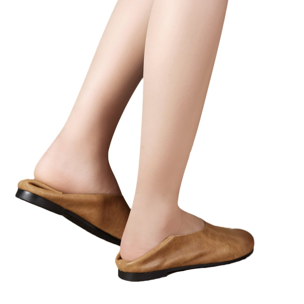 Vogstyle Femme slip-on cuir chaussures plates