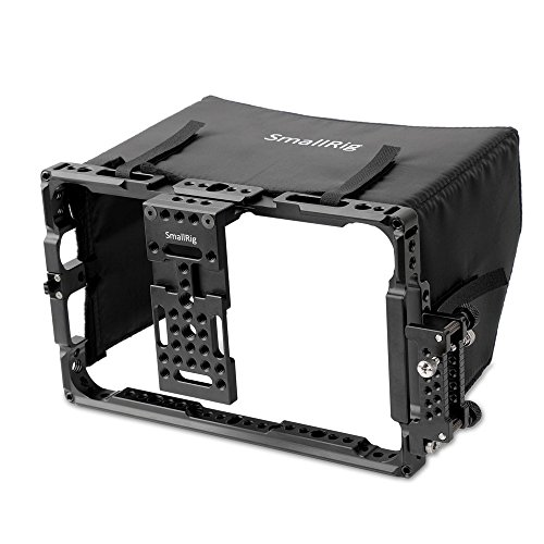 SmallRig 7'' Director's Monitor Cage 2008 with Sun Hood/Sunshade for ATOMOS Shogun Inferno, Ninja Inferno, Shogun Flame, Ninja Flame 7'' Monitors by SmallRig