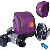 First2savvv anti-shock purple Nylon camcorder case bag for SONY DCR-SX50E DCR-SX53E DCR-SX60E DCR-SX63E DCR-SX65E DCR-SX73E DCR-SX83E DCR-SX85E HDR-SR10E HDR-SR11E with card reader