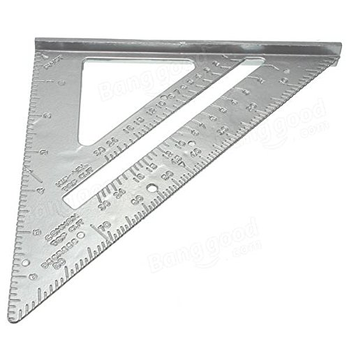 Triangular Ruler - Triangular Ruler Metric - Aluminum Alloy Speed Square Combination Triangle Metric Ruler Carpenter's Protractor Miter Framing ( Triangular Ruler Metal )
