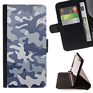 Momo Phone Case / Flip Funda de Cuero Case Cover - Modelo del camuflaje CAMO - Apple Iphone 5C
