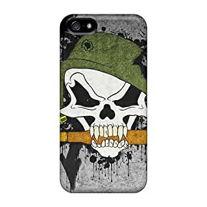 New Customized Design Metal Mulisha For Iphone 5/5s Cases Comfortable For Lovers And Friends For Christmas Gifts
