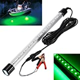 Deep Dream 23.6in Underwater Fishing Light 12V 99 LEDs Submersible Night Fishing Finder Catch Fish Lamp Boat with 6M Power Cord