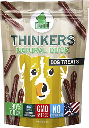 Plato Smart Dog All Natural Duck Strips Dog Treats - 6 Pack