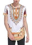 Sanatty Dashiki Shirts Men Traditional Printed Summer Top Blouse Long T Shirts Hip Hop