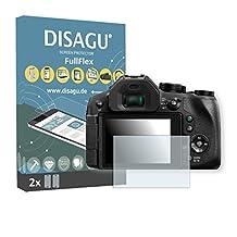 2 x Disagu FullFlex screen protector for Panasonic LUMIX DMC-FZ300 foil screen protector