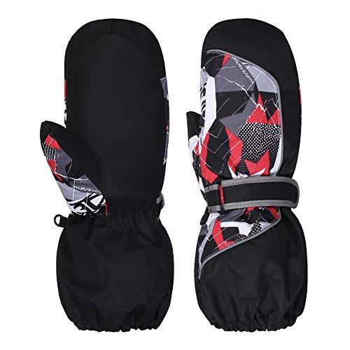 Waterfly Ski Gloves for Men Women Winter Snow Waterproof Windproof TPU Gloves Snowboard Snowmobile Skiing (Black06, M)