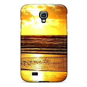 Fashionable Style Case Cover Skin For Galaxy S4- Golden Beach At Sunset