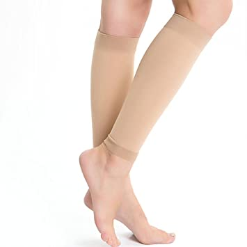 b8b7040840 Kingbridal Women's Medical Compression Stockings 15-20mmhg,Knee High,Open  Toe Toeless Compression