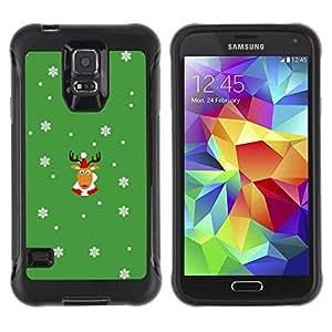Paccase / Suave TPU GEL Caso Carcasa de Protección Funda para - Rein Deer Winter Horns Christmas Snow Flakes - Samsung Galaxy S5 SM-G900