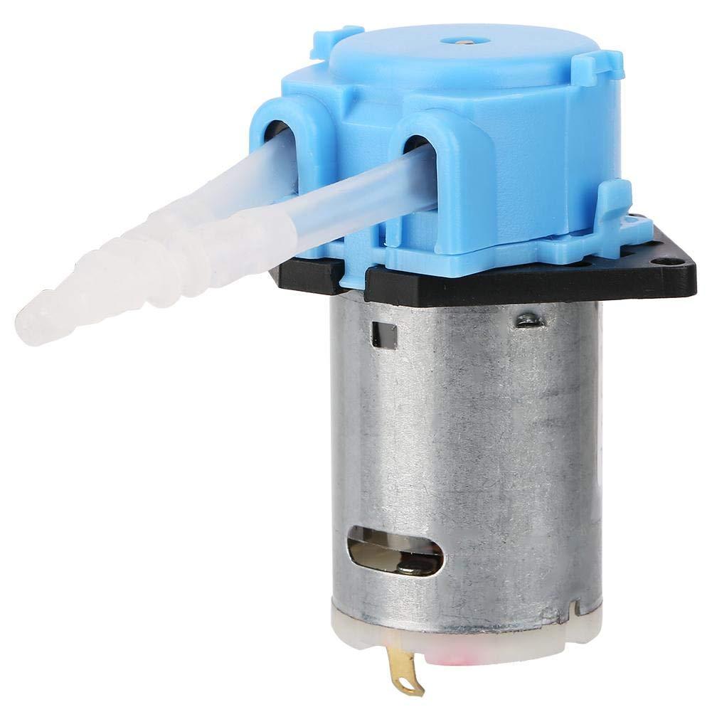 Bomba peristáltica, Bomba de dosificación de 24V, Cabeza de tubo peristáltico de bricolaje para el análisis químico del laboratorio de acuarios (azul)