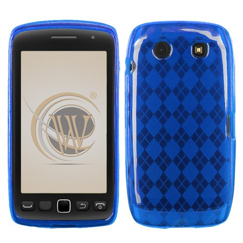 Blackberry Torch 9850/9860 TPU Protector Case - Blue Check Blackberry Blue Faceplates