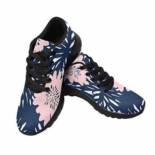 Interessante Donna Da Jogging Da Corsa Sneaker Leggero Go Easy Walking Sport Comfort Scarpe Da Corsa Fiori In Blu E Rosa Pastello Multi 1