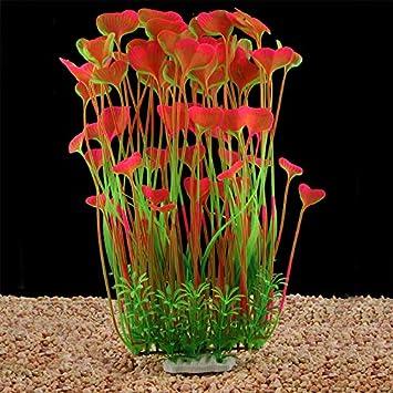 LYNKO Plantas de Acuario Grandes de plástico Artificial para ...