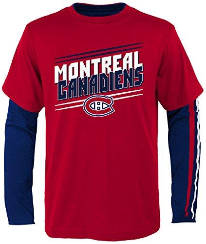 NHL Montreal Canadiens Youth Boys First Line Tee Shirt Combo Pack, Medium(5-6), Crimson (Hockey Montreal Nhl)